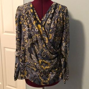 Trina Turk full sleeves silk blouse